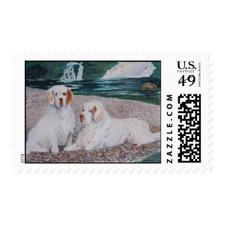 Clumber Spaniel - Pebble Beach postage