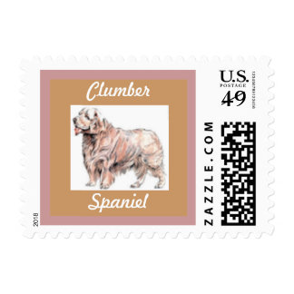 Clumber Spaniel Postage Stamp for letters