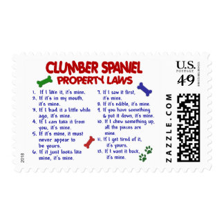 CLUMBER SPANIEL Property Laws 2 Postage Stamp