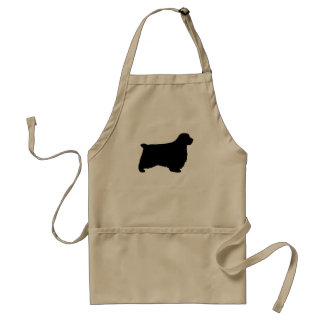Clumber Spaniel Silhouette Adult Apron