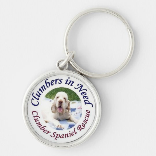 Clumbers in Need Key Chain