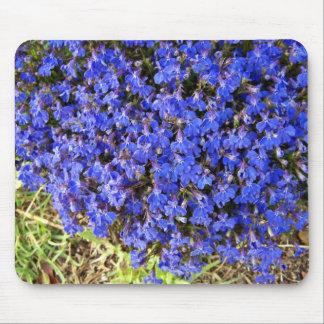 Clump of vivacious Blue Flowers Mousepad