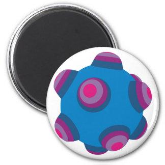 ClumpBubble (Blue/Purple) 2 Inch Round Magnet