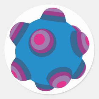ClumpBubble (Blue/Purple) Classic Round Sticker