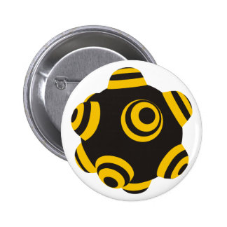 ClumpBubble Bumblebee 2 Inch Round Button