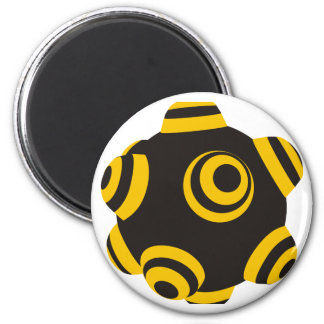 ClumpBubble Bumblebee 2 Inch Round Magnet