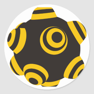 ClumpBubble Bumblebee Classic Round Sticker