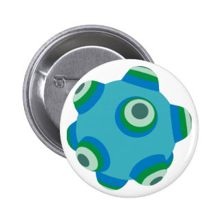ClumpBubble of the seas Pinback Buttons