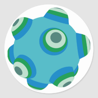 ClumpBubble of the seas Round Stickers