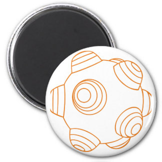 ClumpBubble - Orange Outline 2 Inch Round Magnet