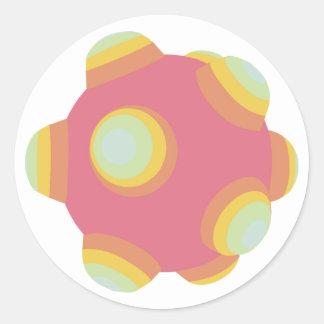 ClumpBubble - Pale/Pastel/Faded Classic Round Sticker
