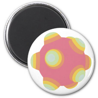 ClumpBubble - Pale/Pastel/Faded 2 Inch Round Magnet