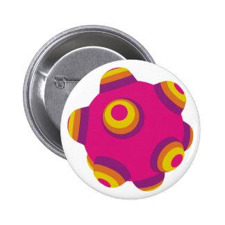 ClumpBubble Pink Purple Orange Button