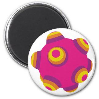 ClumpBubble Pink Purple Orange Refrigerator Magnets