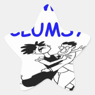 clumsy dancer star sticker