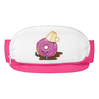 Clumsy Donut Spilled Coffee Humor Fanny Pack Hat