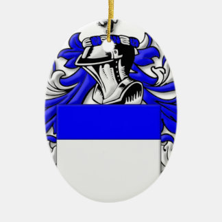 Clunn Coat of Arms Double-Sided Oval Ceramic Christmas Ornament