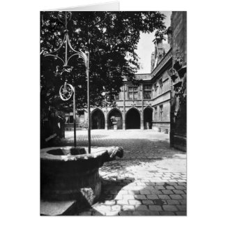 Cluny Hotel seen from the courtyard, Paris Card