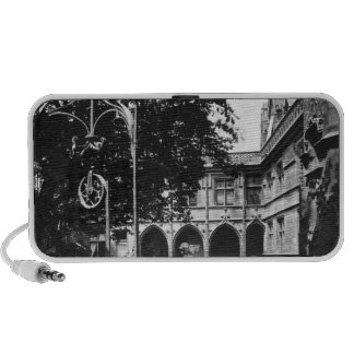 Cluny Hotel seen from the courtyard, Paris Mini Speakers