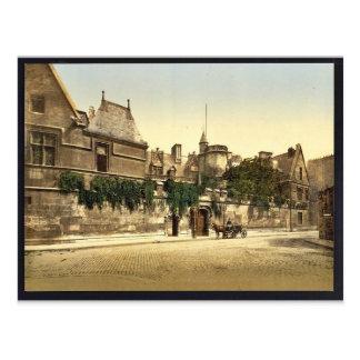 Cluny Museum, Paris, France vintage Photochrom Postcard