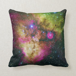 Cluster NGC 2467 Skull and Crossbones Nebula Throw Pillow