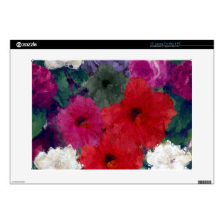 Cluster Of Abstract Flowers Laptop Decal