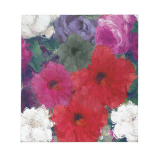 Cluster Of Abstract Flowers Notepad