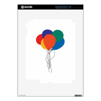 Cluster of Balloons Decal For iPad 2