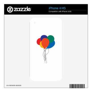 Cluster of Balloons Skin For iPhone 4