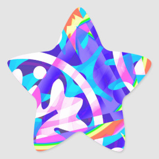 Cluster of Color Violet Variation Star Sticker
