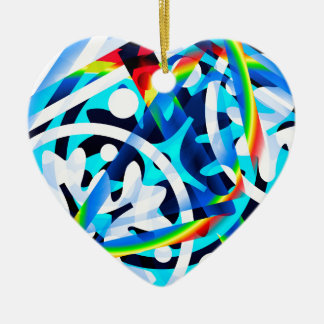 Cluster of Colorful Abstract Shapes Ceramic Ornament