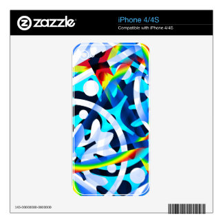 Cluster of colorful Abstract shapes Skins For The iPhone 4