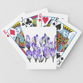 Cluster of Crocuses Bicycle Playing Cards