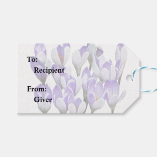 Cluster of Crocuses Gift Tags