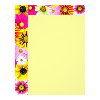 Cluster Of Flowers Letterhead Template