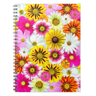 Cluster Of Flowers Spiral Note Book