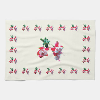 Cluster of Fuschia Kitchen Towels