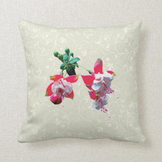 Cluster of Fuschia Throw Pillow