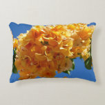 Cluster of Golden Bougainvillea Accent Pillow