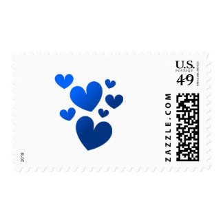 Cluster of Hearts Postage Stamp