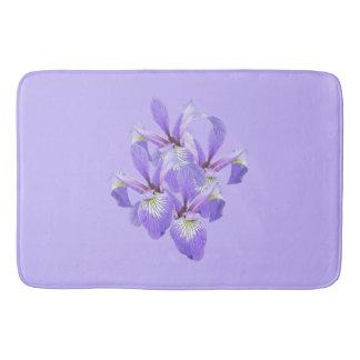 Cluster of Irises Bath Mat Bath Mats