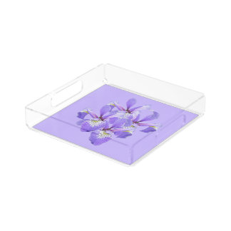 Cluster of Irises Small Vanity Tray Square Serving Trays