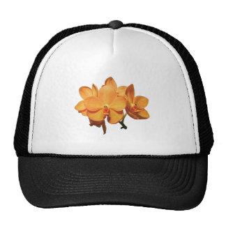 Cluster of Orange Orchids Trucker Hats