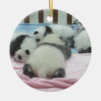 Cluster Of Panda Cubs Ceramic Ornament