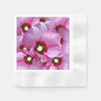 Cluster of Pink Flowers Coined Paper Napkins