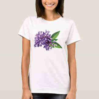 Cluster of Purple Lilac Ladies T-Shirt