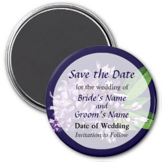 Cluster of Purple Lilacs Save the Date Magnet