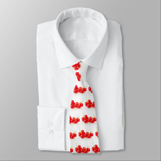 Cluster of red currants neck tie