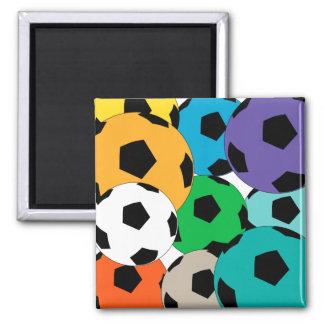 cluster of soccer balls magnet