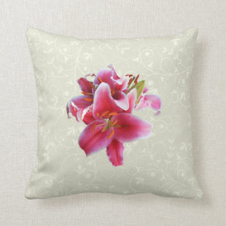 Cluster of Stargazer Lilies Throw Pillow